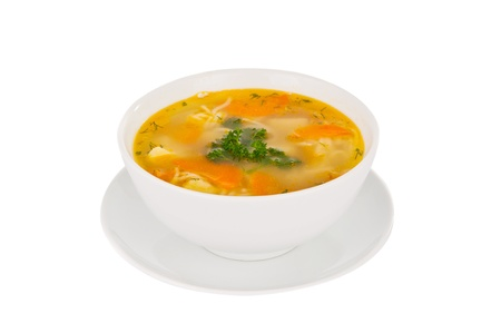 soup isolated on white background Zdjęcie Seryjne