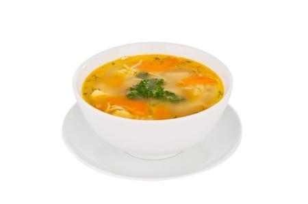 Suppe isoliert auf weißem Hintergrund