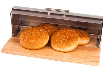 breadbasket buns with isolated on white background photo