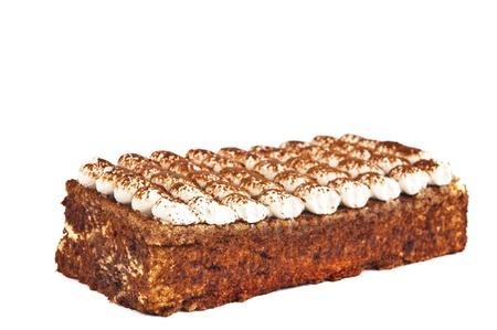 cake with cream isolated on white background Stock Photo - 13800348