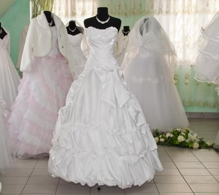 wedding dresses on mannequins Stock Photo - 13847404