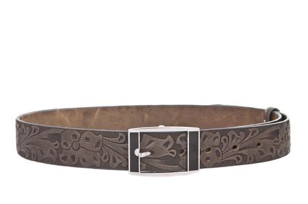 Women's leather belt isolated on white background Stock Photo - 13846591