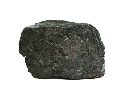 calorific: coal isolated on white background Stock Photo