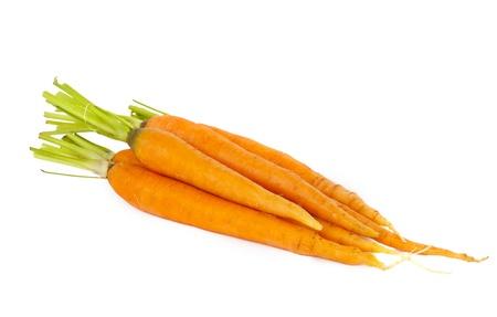 fresh carrots isolated on white background Stock Photo - 14048407