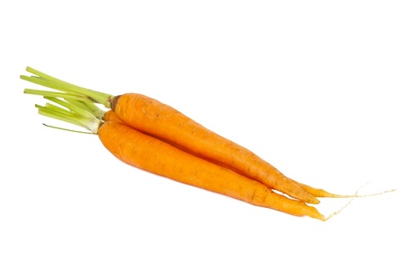 fresh carrots isolated on white background Stock Photo - 14040241