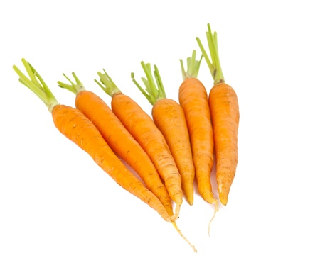 fresh carrots isolated on white background Stock Photo - 14027507