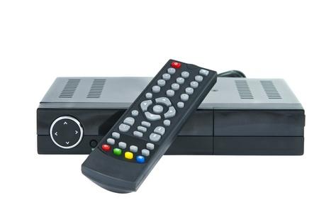 白い背景でデジタル テレビ