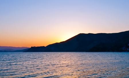 nice evening scene on sea photo