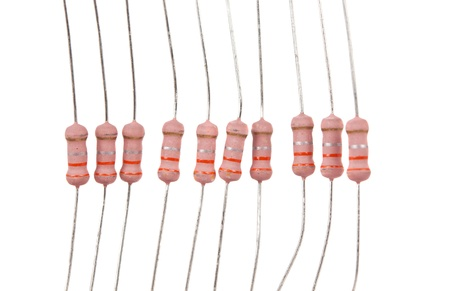 Electronic components, resistor on a white background Stock Photo - 14862559