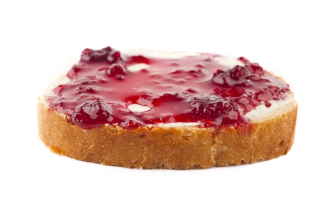 sandwiches with raspberry jam isolated on a white background photo