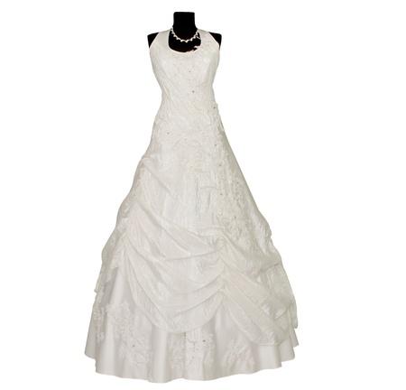 ウェディング ドレスの孤立した白い背景