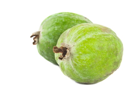 Feijoas fruits isolated on white background photo