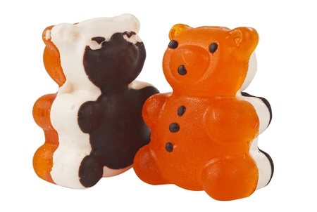 sweettooth: jelly bears isolated on white background