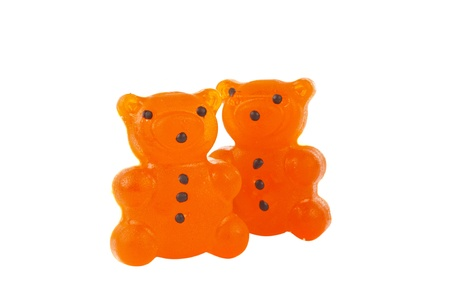 jelly bears isolated on white background