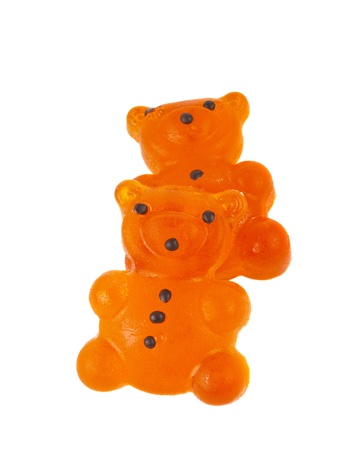 munchy: jelly bears isolated on white background