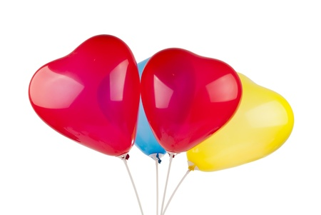 heart balloons isolated on white background