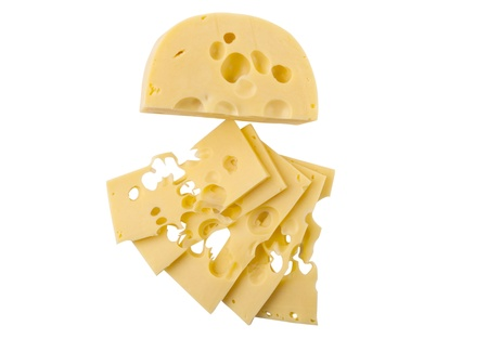 Dutch cheese isolated on white background Stock Photo - 17014227