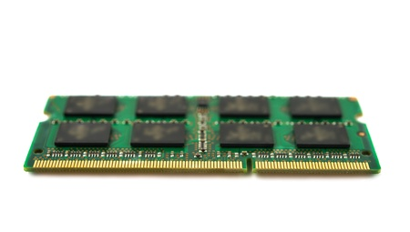 ddr: One DDR RAM stick isolated on white background