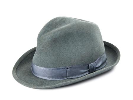 sophistication: Mens hat isolated on white background Stock Photo