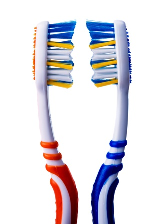 toothbrush on a white background photo