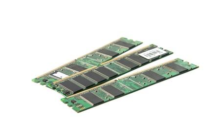 DDR RAM stick isolated on white background Stock Photo - 17431626