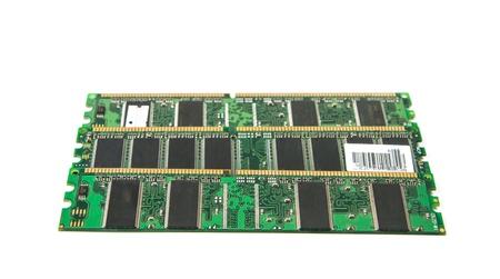 DDR RAM stick isolated on white background Stock Photo - 17431659