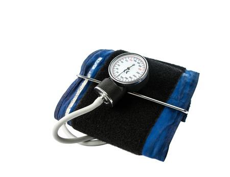 aneroid: tonometer isolated on white background