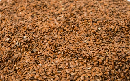 brown flax seed close up Stock Photo - 17549372