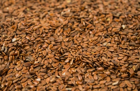 brown flax seed close up Stock Photo - 17549364