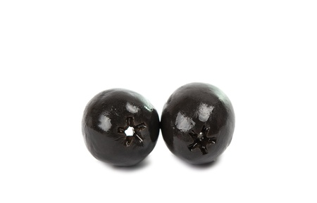 black olives on a white background Stock Photo - 17671613
