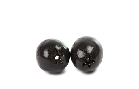 black olives on a white background Stock Photo - 17671613