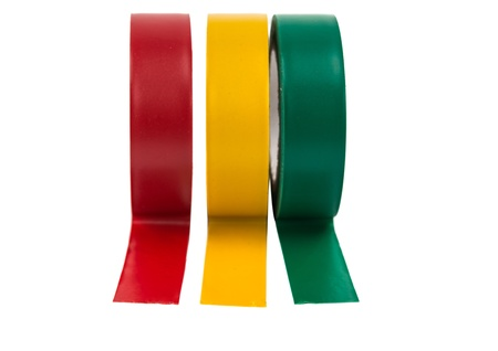 color duct tape on a white background photo