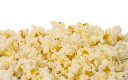 popcorn isolated on a white background photo