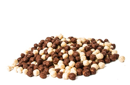 chocolate cereals isolated on a white background Stock Photo - 18078480