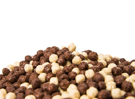 chocolate cereals isolated on a white background Stock Photo - 18078584