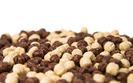 chocolate cereals isolated on a white background Stock Photo - 18078585