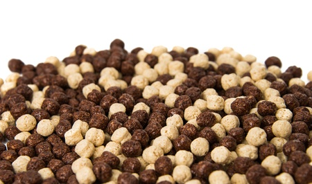 chocolate cereals isolated on a white background Stock Photo - 18078607