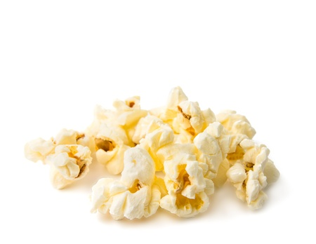popcorn isolated on a white background photo
