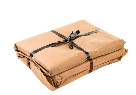 parcel isolated on white background Stock Photo - 18489205