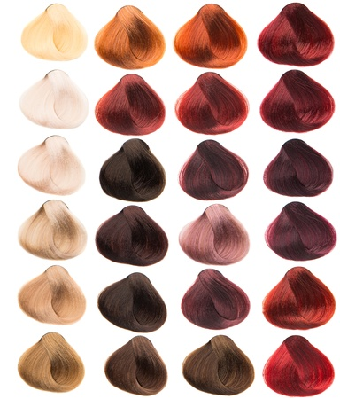 hair samples of different colors Archivio Fotografico
