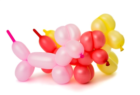 Toy of balloons isolated on white background photo