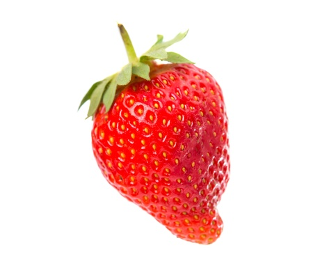 upperdeck view: Strawberry isolated on white background