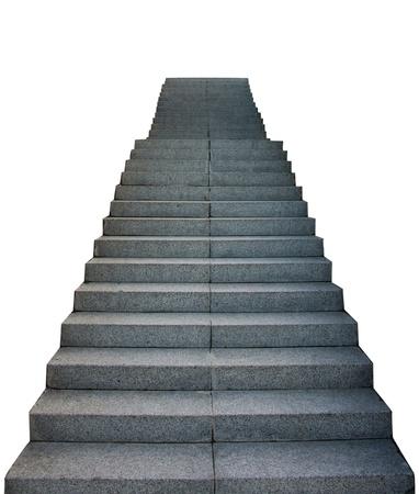 Stair Way Up On White Background Stock Photo