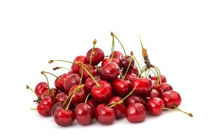 sweet cherries on a white background Zdjęcie Seryjne - 20528845