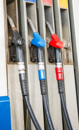 This is a photo of different fillings pistols for fuel photo