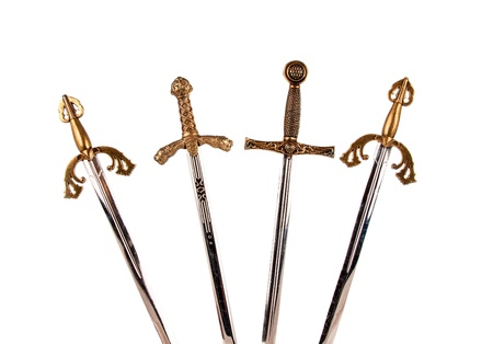 cross armed: Swords isolated on white background