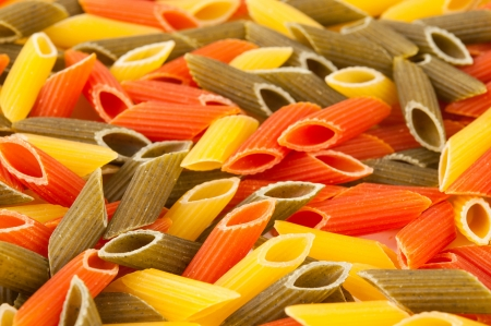 Italian colors pasta background photo