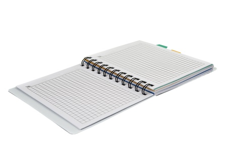 notebook isolated on white background photo