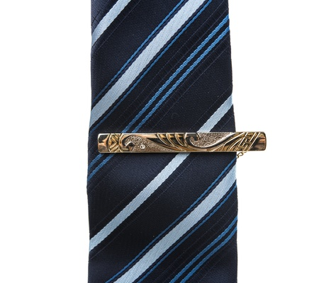 mens necktie isolated on white background photo