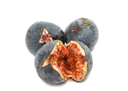 ripe fresh figs isolated on white background photo